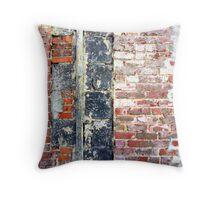Section of brick wall, Brunswick Street, Fitzroy, Melbourne. Throw Pillow
