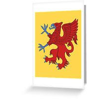 Red Griffin Greeting Card