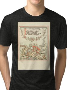 Queen Summer, or, The Tourney of the Lilly and the Rose by Walter Crane 1891 29 - And caused the zephyr horns to blow Tri-blend T-Shirt