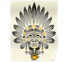 Portrait of American Indian  Poster