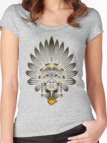Portrait of American Indian  Women's Fitted Scoop T-Shirt