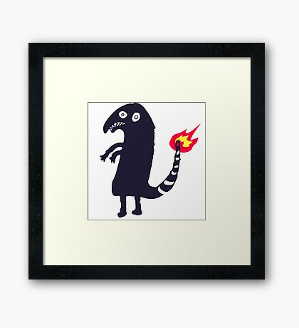black charmander Framed Print