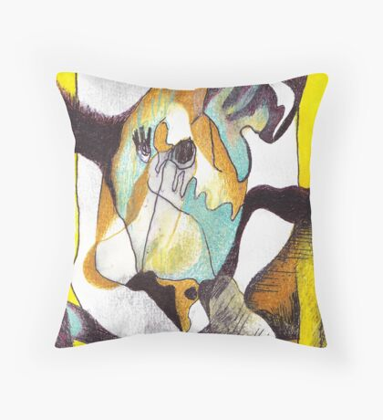extensions Throw Pillow
