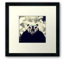 Funny Cool Angry Panda with Sunglasses Framed Print