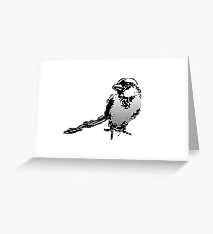 WHITE SPARROW Greeting Card