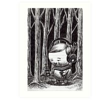 Listening to the Woods Art Print