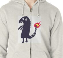 Charmander, the one from the internet.  Zipped Hoodie