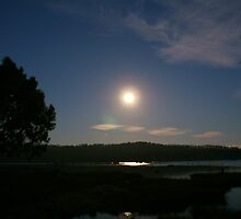 Moon over Dee Lagoon by Antonia Newall