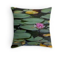 'Water lily' Throw Pillow