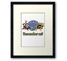 The Justice Friends Tshirt Framed Print