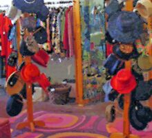 Hats in a Thrift Shop by raindancerwoman