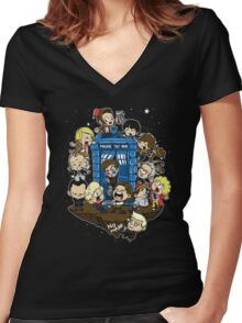 Let's Play Doctor Women's Fitted V-Neck T-Shirt