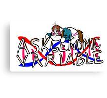 Ask Genomic Variable Canvas Print