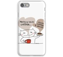 Coffee & donuts / Cat doodle iPhone Case/Skin