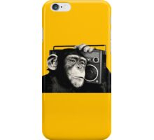 chimpanzee with cassette iPhone Case/Skin