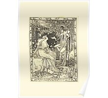 Eight illustrations to Shakespeare's Tempest by Walter Crane 1894 9 - Prospero by Accident of Most Strange Bountiful Fortune Poster