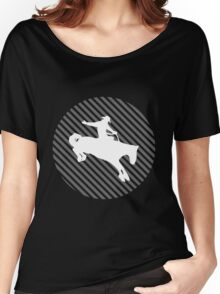 Psychedelic Cowboy (Grey) Women's Relaxed Fit T-Shirt