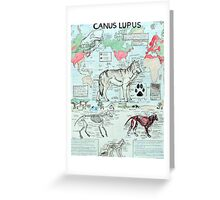 CANUS LUPUS Greeting Card