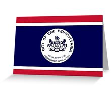 Flag of Erie  Greeting Card