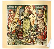 Walter Crane's Painting Book 1889 40 - I Saw Three Ships Color Poster