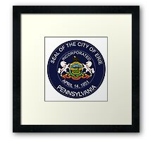 Seal of Erie  Framed Print