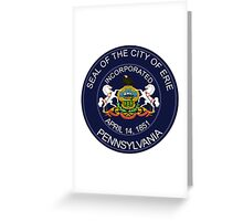 Seal of Erie  Greeting Card