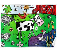 Spring on  Mo's Farm Poster