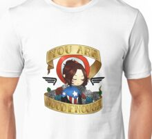 bucky says believe in yourself Unisex T-Shirt