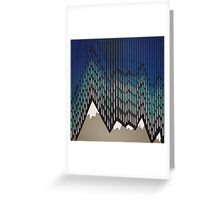 Abstract Majestic Rainy Mountains Greeting Card