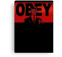 Obey Zombie Canvas Print