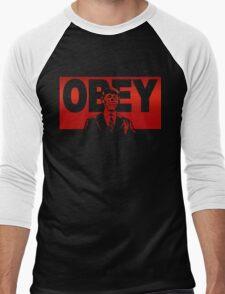 Obey Zombie Men's Baseball ¾ T-Shirt