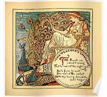 Walter Crane's Painting Book 1889 21 - The Peacock's Complaint Color Poster