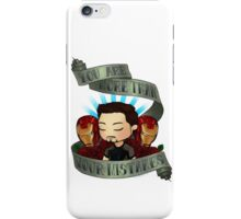 tony says we all grow iPhone Case/Skin