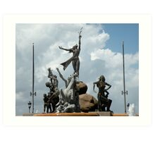 Raices fountain- Old San Juan Art Print