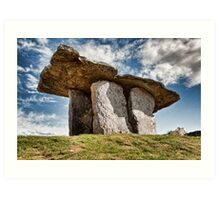 Dolmen megalithic tomb grave, County Clare, Ireland. Art Print