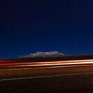 MT Ruapehu by Night by Stephen Johns