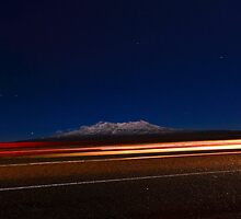 MT Ruapehu by Night by Stephen Johns
