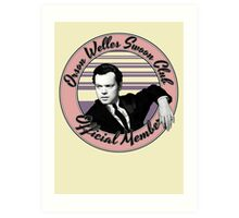 Orson Welles Swoon Club - Faded Pink Art Print