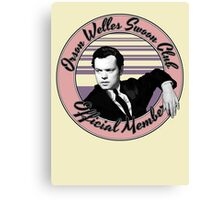 Orson Welles Swoon Club - Faded Pink Canvas Print