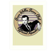 Orson Welles Swoon Club - Faded Orange Art Print