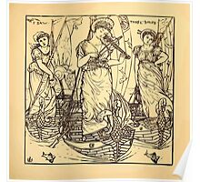 Walter Crane's Painting Book 1889 41 - I Saw Three Ships Lines Poster