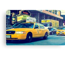New York Taxi Metal Print