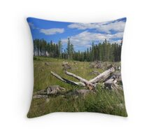Dried wood Throw Pillow