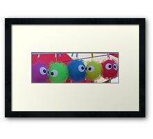 puff balls Framed Print