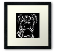 Pugs are People Too Black and White Abstract Framed Print