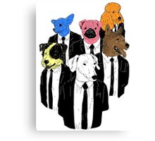 Real Reservoir Dogs sticker Canvas Print