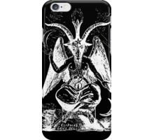 Satan Goat black iPhone Case/Skin
