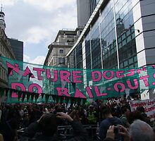 Climate Change protesters at the G20 demo in London by MisterD