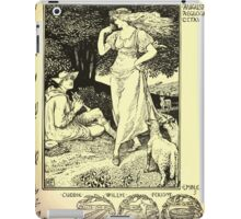 The shepheard's calender twelve aeglogues proportionable to the twelve monethes Newly adorned with twelve pictures and other devices by Walter Crane 1898 91 - August iPad Case/Skin