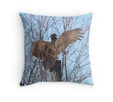 Turkey Vulture Spread. Throw Pillow